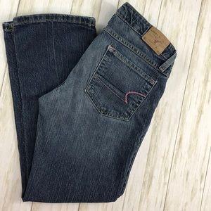 AE American Eagle Medium Wash Crop Jeans